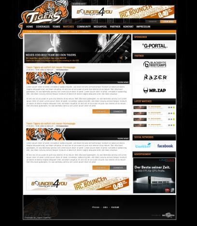 Tigers Black/Orange Clandesign