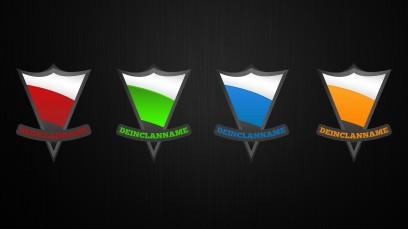 Gaming Wappen 4 Farben