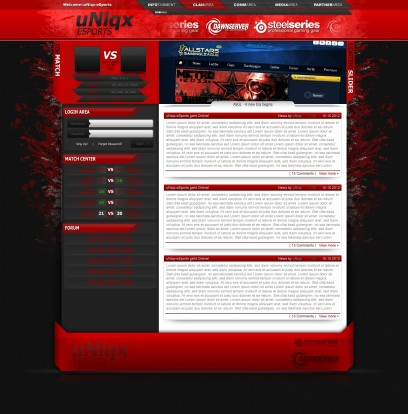 Red eSport Design by XP-uNiqx