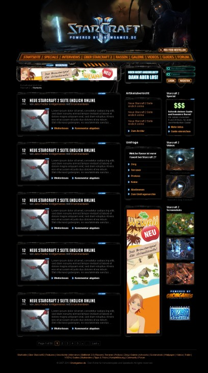 Starcraft 2 Gaming- / Clansite