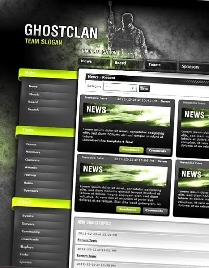 Ghost Clan Premium Template (ClanSphere)