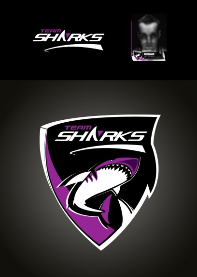 Team SHARK Logo - Violett / violet