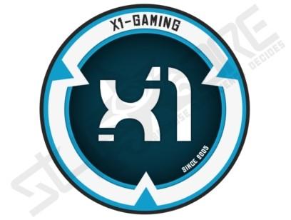 X1-GAMING blue/white Clanlogo