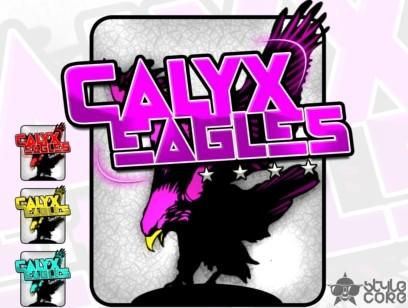 CALYX EAGLES violet/black/white Clanlogo - Multicolored