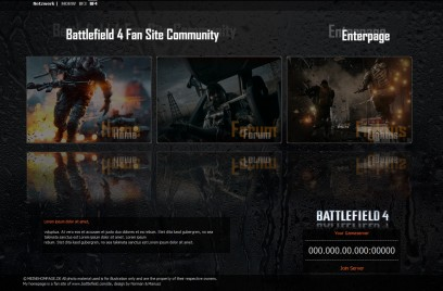 Battlefield 4 EnterPage