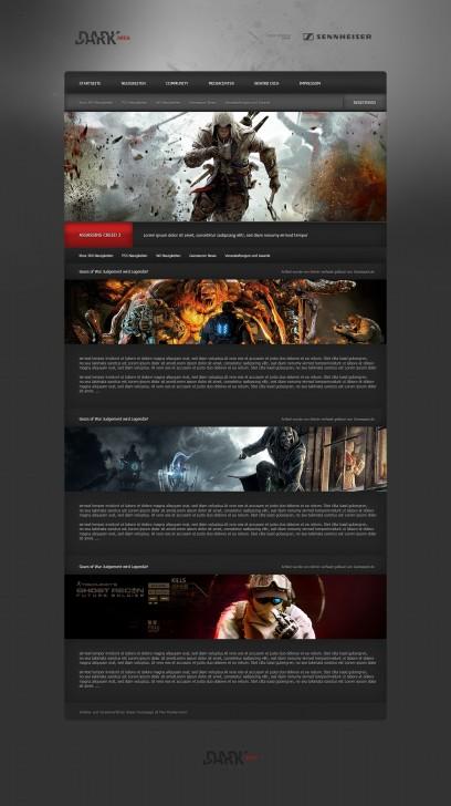 Dark Area Blog Design