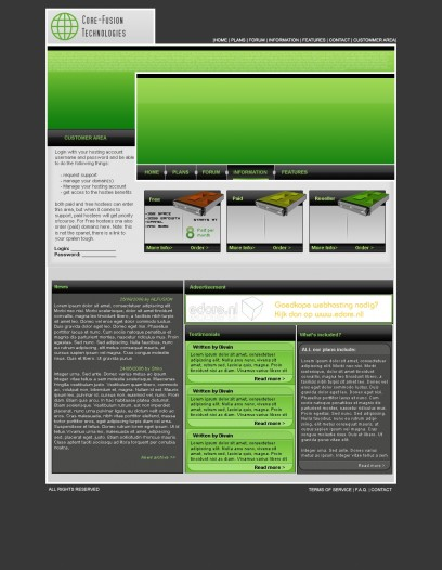 Core Fusion Hosting Template