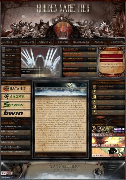 Diablo III multigaming clan/guild Design