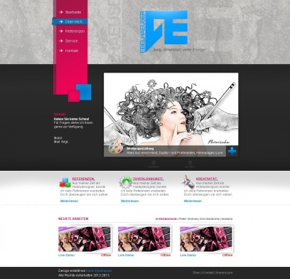 Blau/Pinkes Portfolio