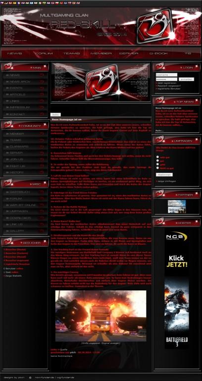 Red skill Webspell free Design
