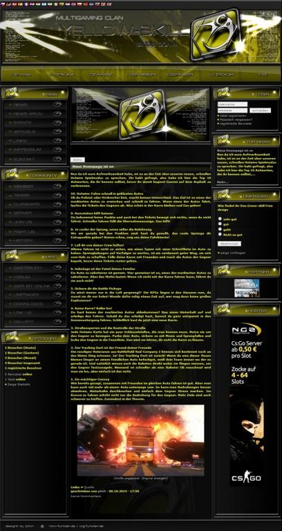 Yellow skill Webspell free Design