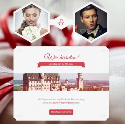 Hochzeits-Template (Ihre Hochzeitsseite)