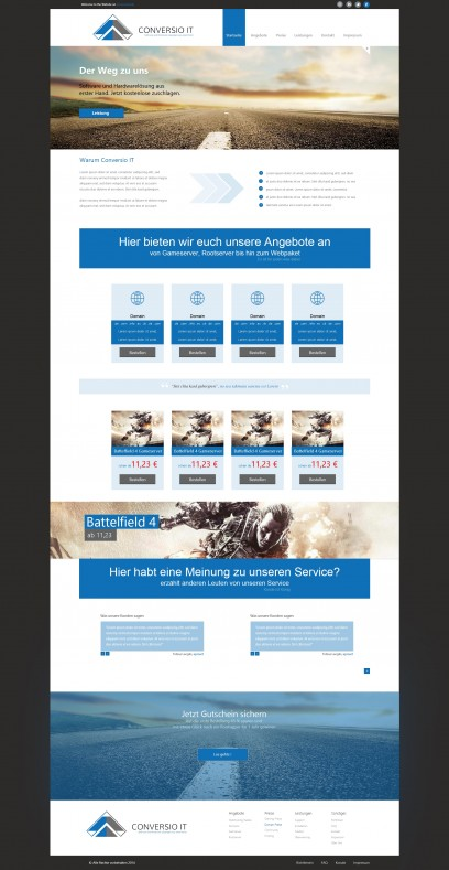 Hosting Design Blau v2
