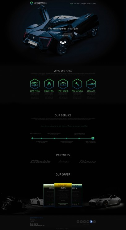 Awesomness One page template