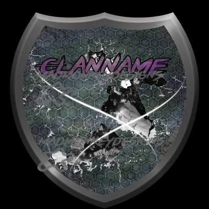 Clanwappen Purple Brush